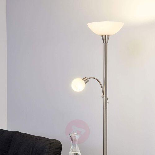 Lampenwelt.com Elaina - 2-punktowa lampa stojąca led, nikiel, mat (6291106552522)