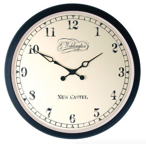 Nextime:: Zegar Ścienny Aaltje czarny Ø25cm, kolor czarny
