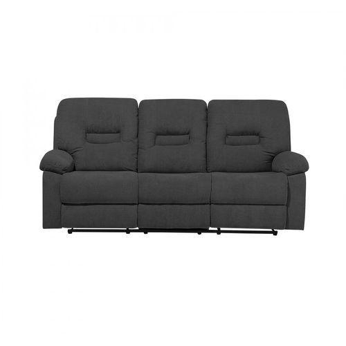 Sofa trzyosobowa tapicerowana ciemnoszara rozkładana rinoceronte marki Blmeble
