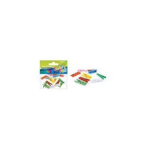 Ozdoba dekoracyjna spinacze kolorowe 25szt (5902012710463)