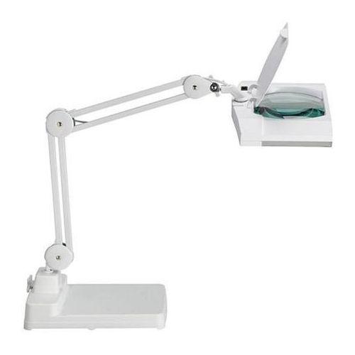 Lampka energooszczędna z lupą na biurko MAULvitrum, 2x9W, biała (4002390050982)