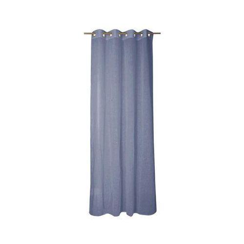 Inspire Firana na przelotkach abby 140 x 280 cm niebieska