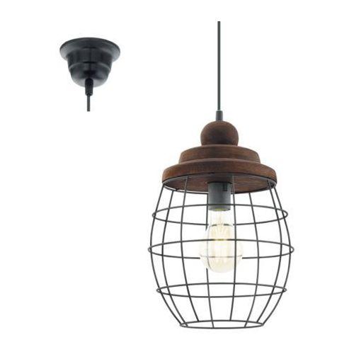 Eglo Lampa wisząca vintage bampton - 24 cm patyna brązowa, 49499