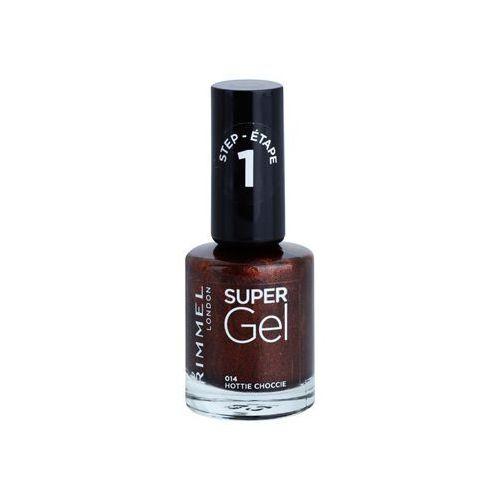 Rimmel  super gel step 1 żelowy lakier do paznokci bez konieczności użycia lampy uv/led odcień 014 hottie choccie 12 ml