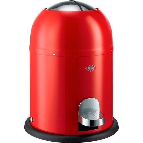 Wesco Mały kosz na śmieci czerwony, pedałowy 9 litrów single master (180212-02)