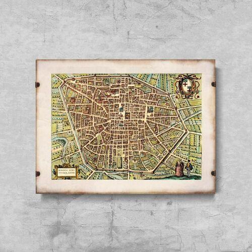 Vintageposteria.pl Plakat w stylu vintage plakat w stylu vintage stara mapa braun i hogenberg