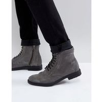 Kg By Kurt Geiger Military Lace Up Boots Black - Grey, kolor szary