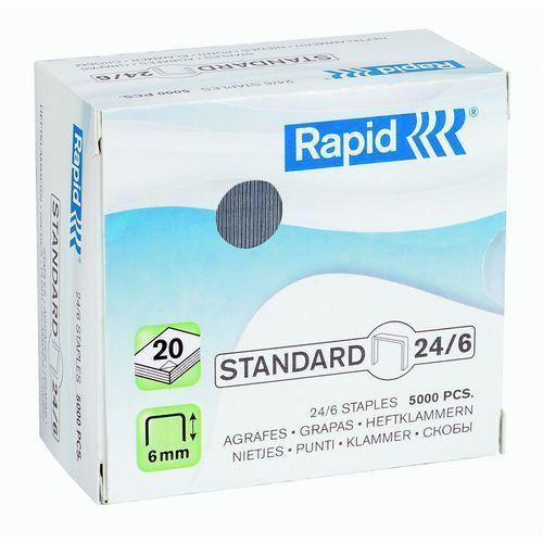 Rapid Zszywki 24/6 standard 5000 szt. 24859800 (7313468598006)
