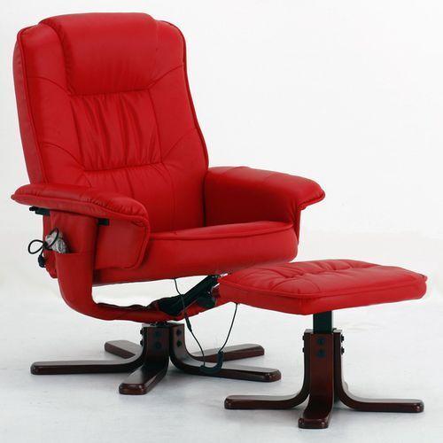 Fotel masujący wypoczynkowy biurowy masaz grzanie - czerwony wyprodukowany przez Regoline