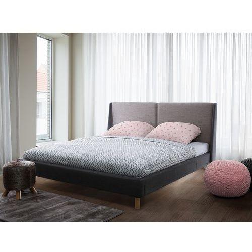 Beliani Łóżko ciemnobeżowo-szare - 160x200 cm - łóżko tapicerowane - valence