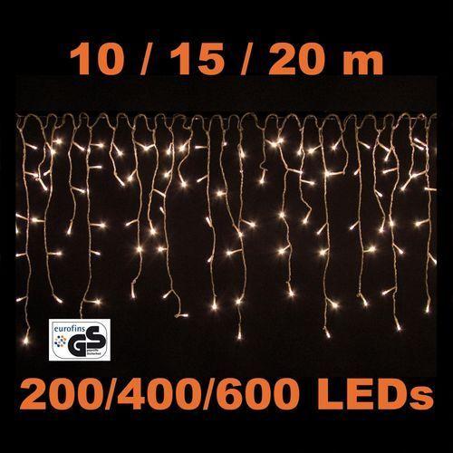 KURTYNA 400 LED LAMPKI NA DOM CIEPŁA BIEL + PILOT (30010161)