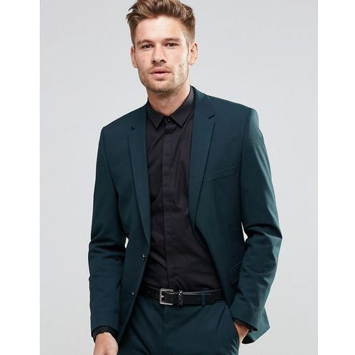 Selected Homme Suit Jacket in Slim Fit with Stretch - Green