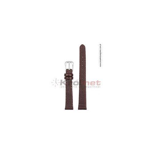 Pasek TK033BR/12XL - brązowy, imitacja skóry jaszczurki, long