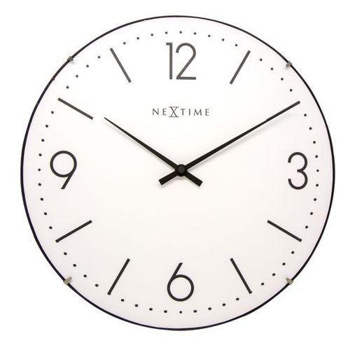 Zegar Nextime Basic Dome 35 cm biały