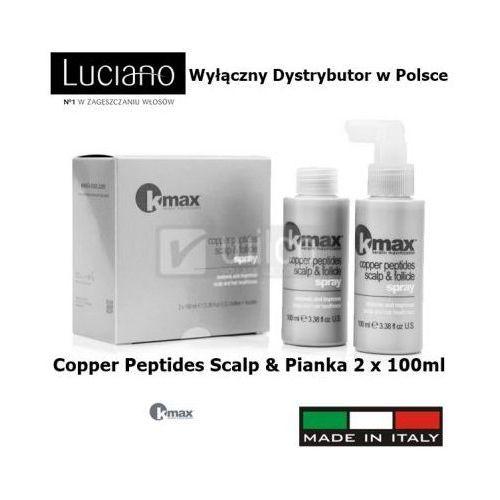 Peptydy miedzi kmax porost włosów łysienie 2 x 100ml od producenta Kmax keratin maximization