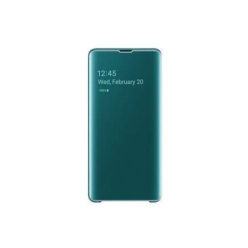 galaxy s10 plus clear view cover - green marki Samsung