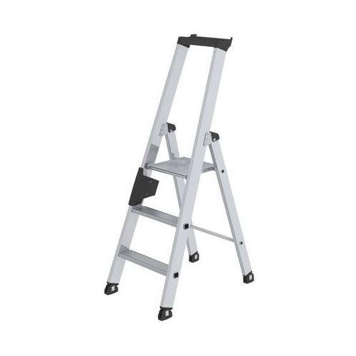 Drabina stojąca ze stopniami, jednostronna,wersja komfortowa z ergo-pad®