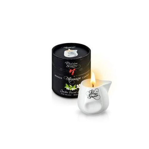 Świeca do masażu - Plaisirs Secrets Massage Candle White Tea, PS015L