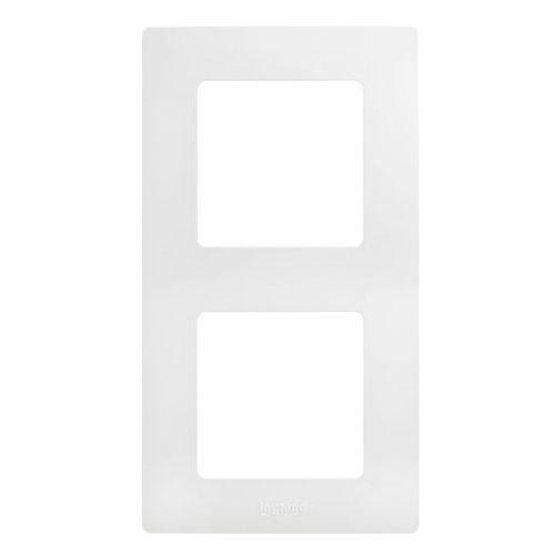 Ramka podwójna niloe 665002 biała marki Legrand