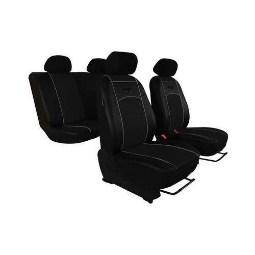 Pokrowce samochodowe uniwersalne Eko-skóra Czarne Honda Civic VIII 2006-2011 - Czarny