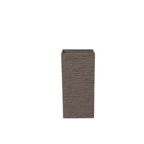 Doniczka ciemnobrązowa kwadratowa 30 x 30 x 60 cm Benedetto BLmeble