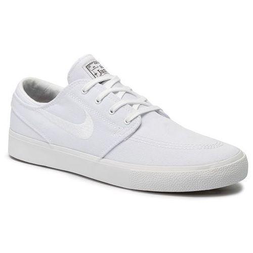 Buty NIKE - Sb Zoom Janoski Cnvs Rm AR7718 100 White/White/Gum Light Brown, kolor biały