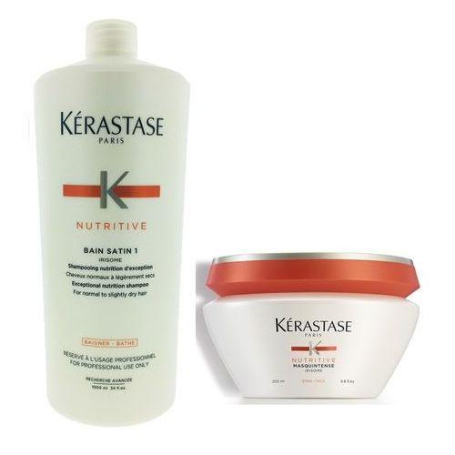 Kerastase nutritive | zestaw do włosów normalnych i suchych: kąpiel 1000ml + maska 200ml (9753198541907)