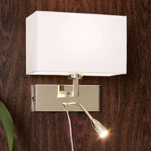 Markslojd Kinkiet lampa ścienna savoy 1x60w e27+1x3w led złoty/biały 106308 (7330024558205)