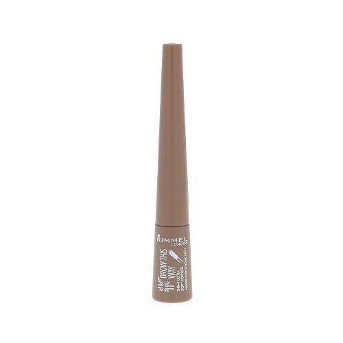 brow this way 3in1 ultra soft powder 0,7g w puder 001 light brown marki Rimmel london