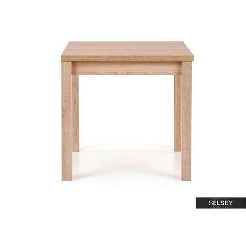 stół rozkładany lea 80-160x80 cm dąb sonoma marki Selsey