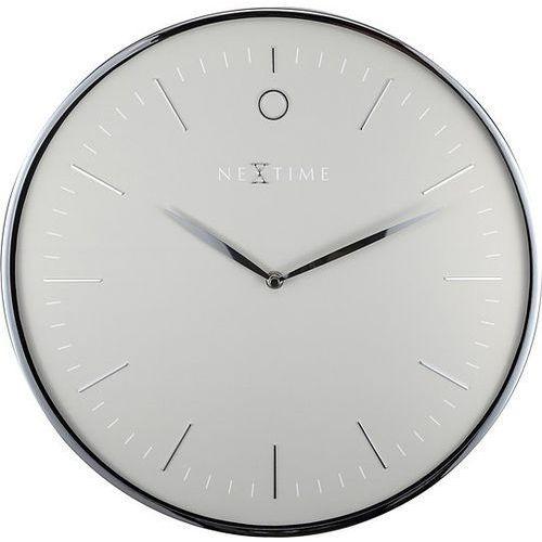 Nextime Zegar ścienny glamour szaro-srebrny
