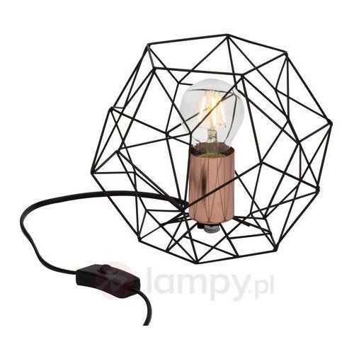 synergy lampa stołowa czarny, miedź, 1-punktowy - przemysłowy - obszar wewnętrzny - synergy - czas dostawy: od 4-8 dni roboczych marki Brilliant