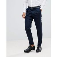 tapered smart trousers in texture - navy, Selected homme