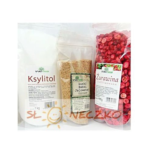 True foods Pakiet dieta oxy (żurawina 100g +ksylitol 1kg+babka jajowata 200g)
