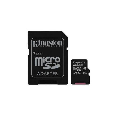 Karta pamięci Kingston Canvas Select MicroSDXC 128GB UHS-I U1 (80R/10W) + adapter (SDCS/128GB)