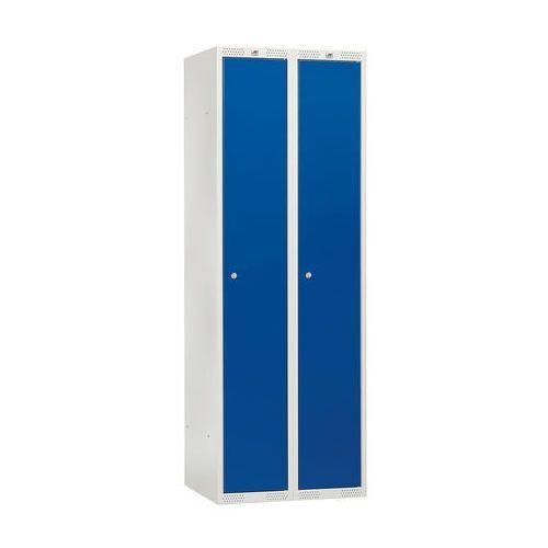 Szafa ubraniowa classic, 2 moduły, 1740x800x550 mm, niebieski marki Aj produkty