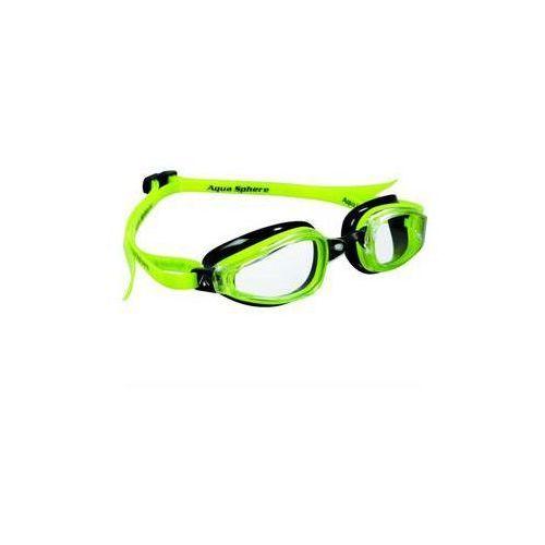 Męskie okulary pływackie k180 clear czarne/żółte marki Michael phelps aqua sphere