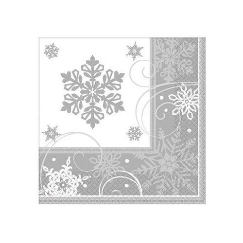 Amscan Serwetki płatki śniegu - 33 cm - 16 szt.