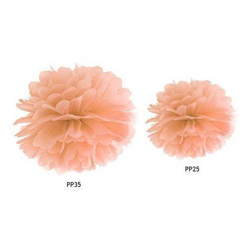 Party deco Dekoracja wisząca pompon kwiat - brzoskwiniowa - 35 cm - 1 szt. (5902230705364)