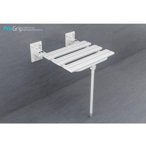 Krzesełko prysznicowe uchylne z nogą marki Arfen polska