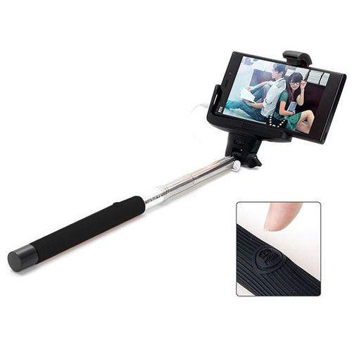 Czarny uniwersalny uchwyt selfie stick do aparatów i smartfonów monopod z07-7 - czarny marki 4kom.pl
