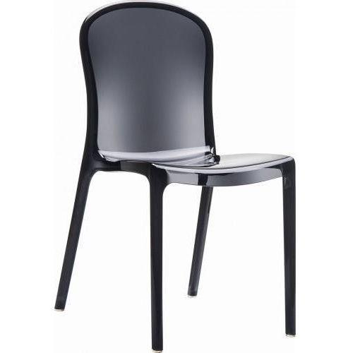 Krzesło Uma - czarny ||transparentny, kolor czarny