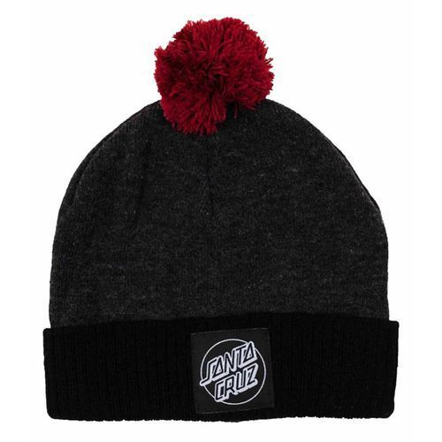 Santa cruz Czapka zimowa - crank bobble beanie grey heath/black (grey heath/black)