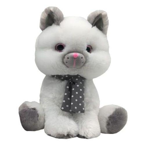Maskotka Kot biały Silver 30 cm - DARMOWA DOSTAWA OD 199 ZŁ!!! (5902002061070)