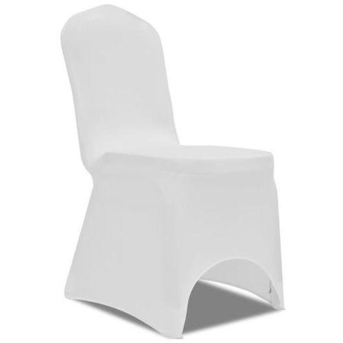 Vidaxl elastyczne pokrowce na krzesła, białe, 50 sztuk