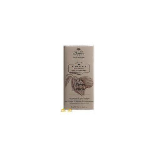 Czekolada Dolfin 70% z ziarnami kakao 70g