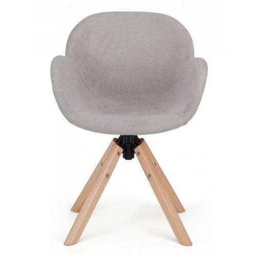 Krzesło Tarnby tapicerowane wood szary