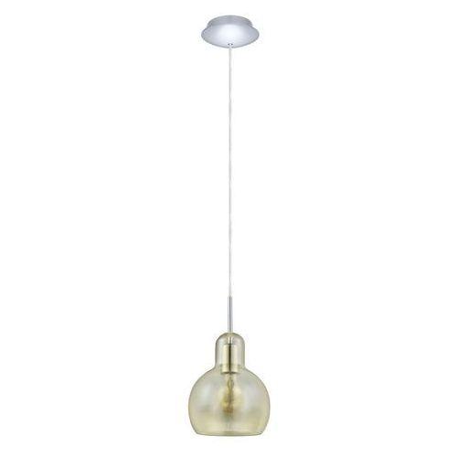 Eglo 49267 - Lampa wisząca VINTAGE 1xE27/60W/230V, kolor Bursztynowy