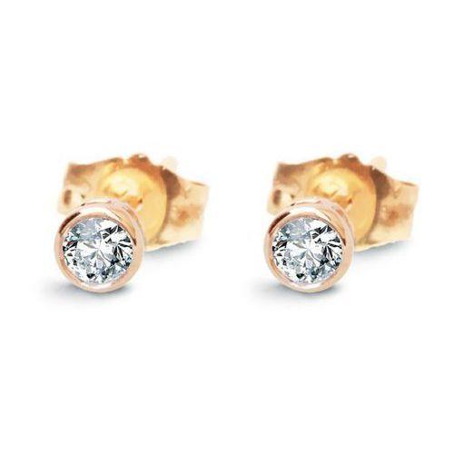 Staviori Złote kolczyki kxd4897 - diament