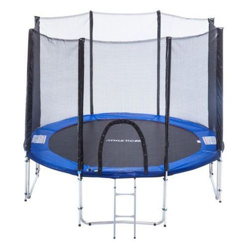 Athletic24 305 cm - trampolina ogrodowa z siatką zabezpieczającą + drabinka gratis! - niebieski